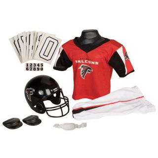 Red Atlanta Falcons Kids Youth Boys Deluxe Football Helmet Jersey