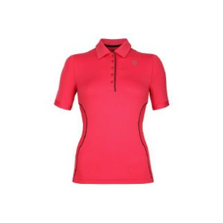 Accessories K Swiss Womens Short Sleeve Polo Rouge Red/Black Shoes