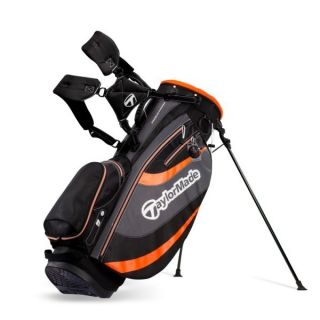 TaylorMade Golf Stratus 3 0 Stand Bag Black Charcoal Orange