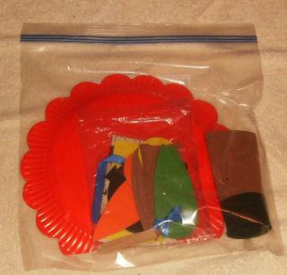 foam craft kit thanksgiving turkey indian cross