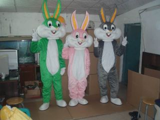 Bunny Mascot Costume Character Party Fancy Dress Adult Size