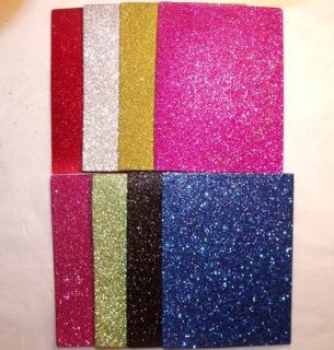 16 NEW GLITTER FOAM SHEET LOT 4 5x6 Blue Pink Purple Gold Red Silver
