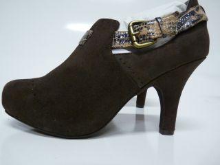 Faryl Robin Vitoria High heeled Brown Suede Boot Sz 7