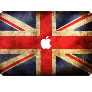 UK Flag Decal Skin Sticker for Macbook White Pro Air 13 13.3 w/ Apple