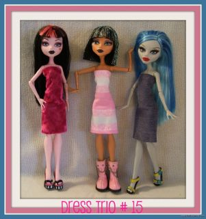 #15 Clothes Clothing Handmade 4 MONSTER HIGH DOLL Custom Fashion NEW