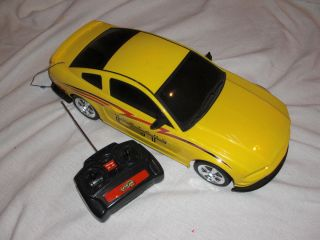 Fast Lane RC 1 10 Remote Control Yellow Mustang GT Race Car