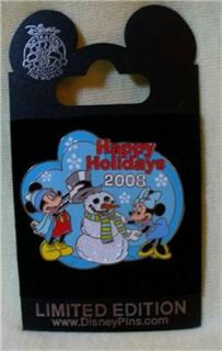 Walt Disney Studios Mickey Minnie Mouse Happy Holidays LE Pin