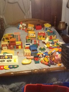 Large Fisher Price Vintage Toys Little People