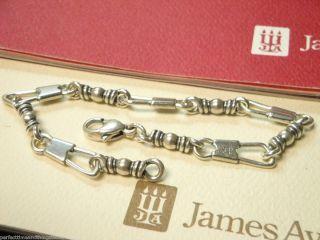 James Avery Fishers of Men Bracelet B 330M 7 3 8 Long Sterling Silver