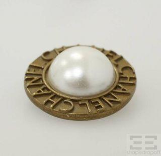 Chanel 4 Piece Antique Gold Faux Pearl Button Set