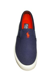 Polo by Ralph Lauren Mens Shoes Faxon Slip on Navy Canvas Sneakers