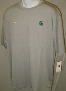 Michigan State Spartans Dri Fit Shirt Gray SS