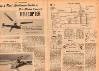Free Flight VTO Model Helicopter Plans Gyro Gas Engine