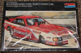 Monogram Bernsteins Budweiser King Ford Tempo Funny Car