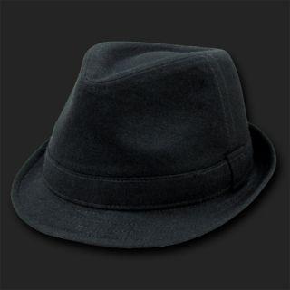 Black Melton Fedora Hat Hats Fedoras Size L XL
