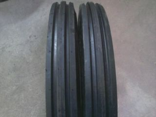 400 19 F2 Triple Rib Ford 2N 9N Front Tractor Tires with Tubes