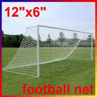 Full Size 12 x 6ft Football Soccer Goal Post Nets 3 6x1 8m Sports