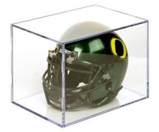 mini football helmet holder display case the ballqube mini helmet