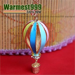 New Charm Fashion Gold Fire Balloon Pendant Long Chain Necklace Hot