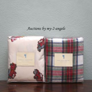 Fire Truck Engine No 1 F Q Duvet Tartan Flannel Full Sheet Set