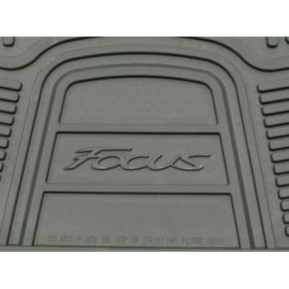2012 Focus Genuine Ford Parts Black Rubber All Weather Floor Mat Set 4