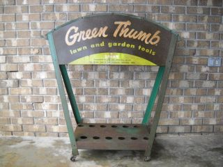 Green Thumb Lawn Garden Tools Union Fork and Hoe Holder Display Rack