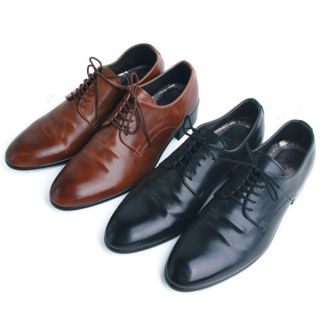 Simple Faux Leather Mens Black Brown Dress Formal Shoes Fu 2822