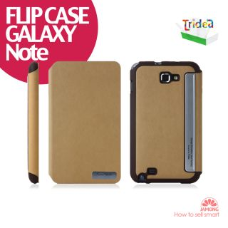NEW Tridea SAMSUNG Galaxy Note FLIP leather Case N7000 Diary Style