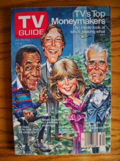 TV Guide John Forsythe Linda Evans Bill Cosby DRAWING86