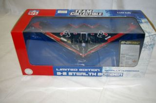 NFL Houston Texans B 2 Stealth Bomber METAL DIE CAST FLEER COLLECTIBLE