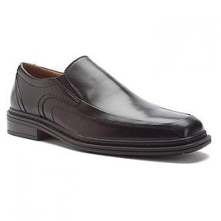 Florsheim Mens Welter Bike SLP Slip on Dress Shoes Black Leather 14081
