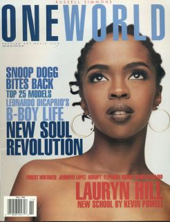 Lauryn Hill Russell Simmons Oneworld magazine RARE Fall 1998 No