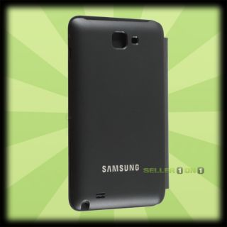 OEM Samsung Galaxy Note Protective Leather Flip Case Black Hard Cover