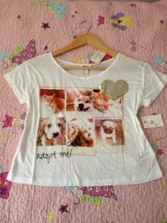 Size XL Crop Top Sequins Pets NWT Boxy Shirt Cats Dogs Forever 21 Kids