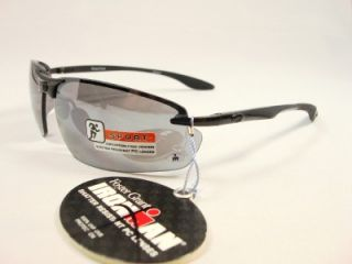 Foster Grant Iron Man Sport Black Metal Frame Sunglasses Guard
