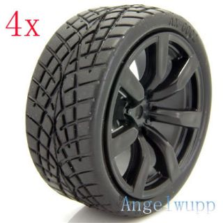 RC 110 Car On Road Wheel Rim &Rubber Grip Tyre Tires I47H01