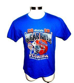 FLORIDA GATORS 2010 Sugar Bowl T SHIRT, shows UF football helmet, mens