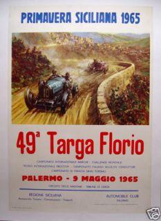 Targa Florio 1965 Guaranteed Original Event Poster