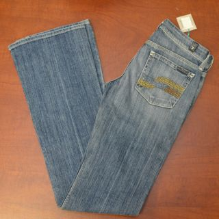 for All Mankind Jeans Flynt Crystals Denim Jean New Womens Size 24