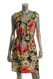 Tiana B New Multi Color Floral Print Scoop Neck Sleeveless Casual