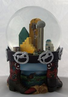 Lord Taylor Texas Revolving Musical Snow Water Globe
