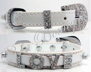Metallic Leather Swarovski Grade Crystal Dog Cat Pet Collar