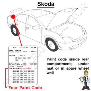 Skoda Paint Chip Scratch Touch Up Corrida Red 8151
