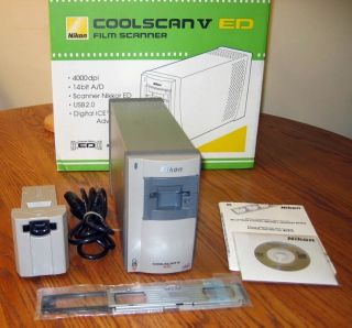 CoolScan V ED Slide Film Scanner w FH 3 strip film holder No Reserve