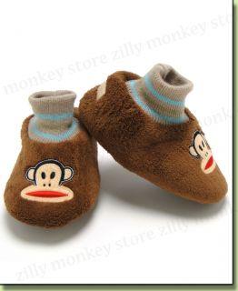 Paul Frank Julius Toddler Boys Booties Slippers Brown