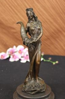Roman Goddess of Prosperity Lady Luck Fortuna Hot Cast Bronze Statue