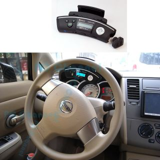 FM Transmitter Mobile Phone Bluetooth Steering Wheel Car Kit w SD