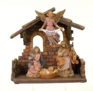 New Fontanini Nativity Set Italian Stable 5 Pieces 4