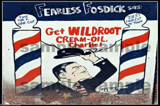 Building Sign HO O Scale Decal Fearless Fosdick Barber Shop 3x2