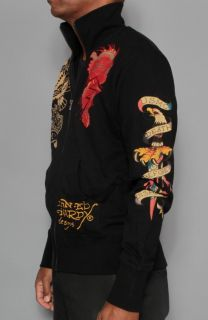 New Mens Ed Hardy by Christian Audigier Skull Cross Track Jacket S